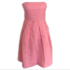 J. Crew Strapless Pink Cocktail Dress with Pockets